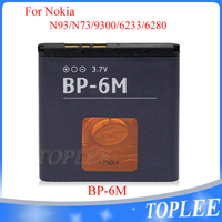 3.7v 1100mah bp-6m battery for nokia N93 N73 9300 6233 6280 6282 3250