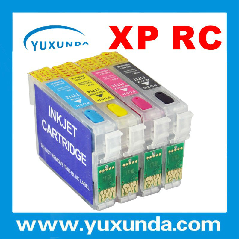 T1701 / T1711 Refillable cartridges for Epson XP33/XP103/XP203/XP207/XP303/XP306/XP403/XP406