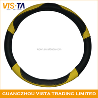 Custom multi-color leather micro fiber sport auto steering wheel cover