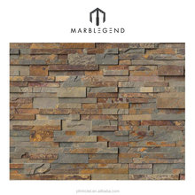 Cheap rusty natural slate multicolor stone wall veneer