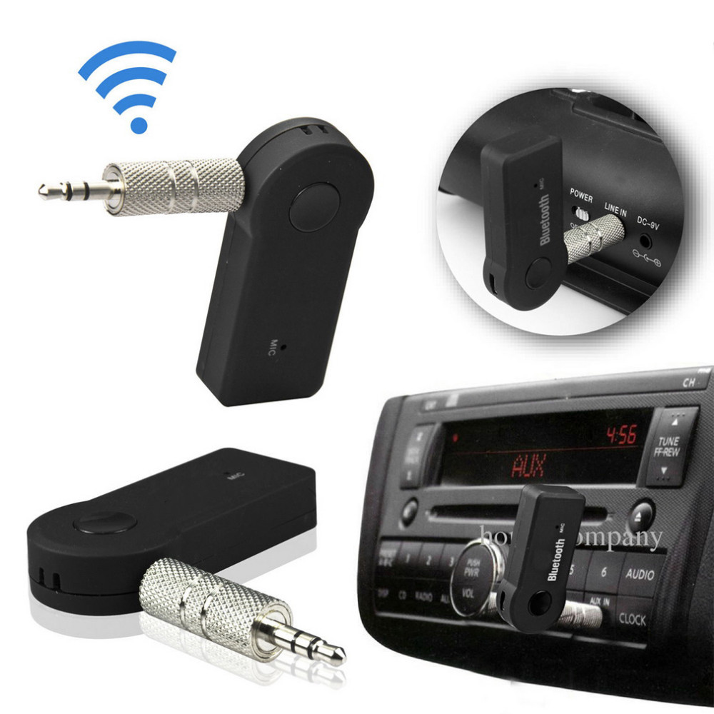 Universal 3.5mm Streaming Car A2DP Wireless Bluetooth AUX Audio Music Receiver Adapter with Mic For Phone MP3#