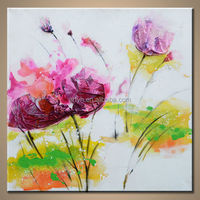 Wholesale Handmade Abstract Chinese Craft Flower Painting