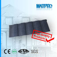 Manual high quality color aluzinco stone chip metal roofing tile