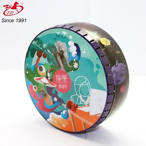 Colorful large click clak tin box for packing tea,candy,mint,gift,cookie