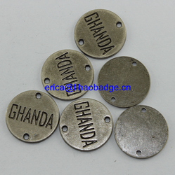 Reactange sewing metal label small custom metal logo,custom logo metal plate for cap
