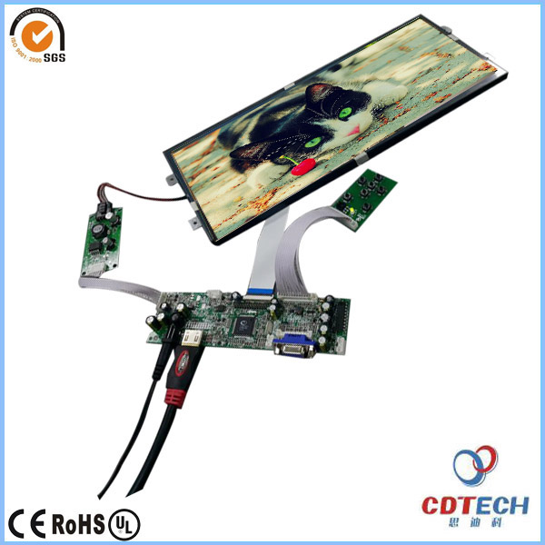high brightness wide temperature range 1920x720 resolution 12.3 inch TFT lcd display monitor