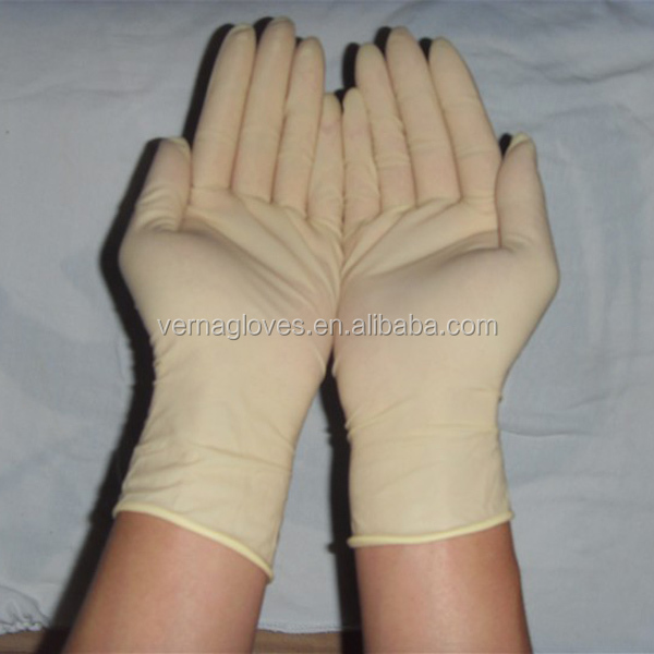 high quality latex gloves powder free /Disposable milk white latex gloves