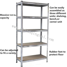 5 layers height adjustable storage chrome shelf