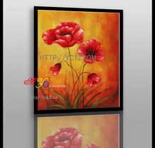 Artwork beautiful red flowers oil paintings canvas home art decor factory direct