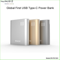 Usb 3.1 Type-c Power Bank 12000mah With Double Usb A/c/micro Usb For Apple New Macbook 12 Inch A1534/nokia N1/chromebook Pixel 2
