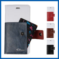 C&T Simple luxury business pu leather id credit card holders flip wallet cover case for oppo mirror 5s