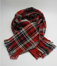 High quality wool feeling touch tartan checked scarf, soft hand feel multi-color square scarf