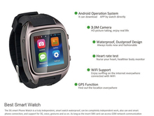 Best Selling Micro SIM Card Watch Phone Waterproof with WiFi 3G MTK6572 Dual Core Smartphone