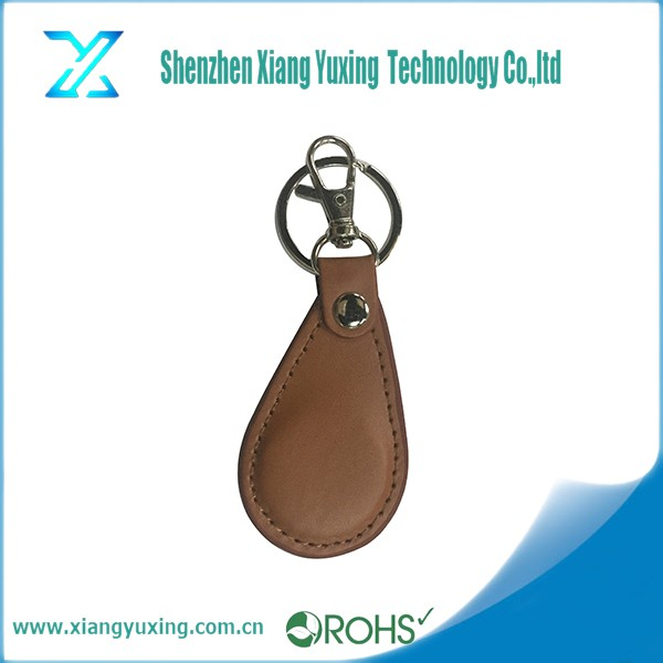 13.56mhz S50 Waterproof passive leather rfid keyfob for management system