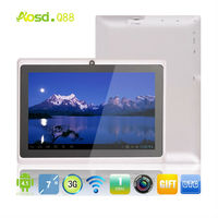 cheap 7 inch tablet pc Allwinner A13 Q88 5 point Capacitive Multi touch Screen+android 4.0+1.2G 512MB 4GB+dual webcam+Wifi