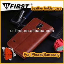 galaxy s5 flip leather case for samsung galaxy s5 case top quality