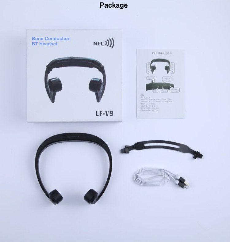 New design wireless Bone Conduction Headphones with Blue-tooth