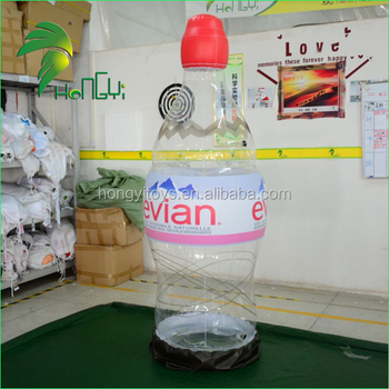 Most Popular Transparent PVC Inflatable Bottle / Large Advertising Replica Inflatable Mineral Water Bottle Can