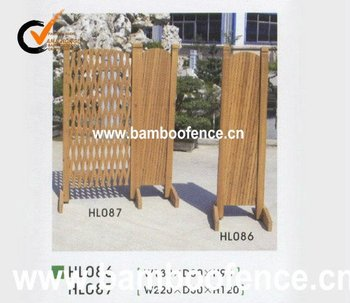 natural folded wood fence for garden decoration