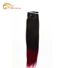 Onicca Brazilian Bohemian Red Remy 8A Grade 8-24'' Ombre Hair Extensions
