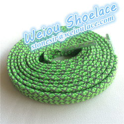 Weiou Apple green Cheap flat 3m shoelace for asics running shoes