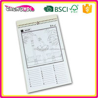 simple design A3 pp cover gift calendar for sales promotion