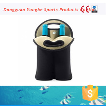Factory products Neoprene 2mm two wine neoprene bottle cooler for promotion