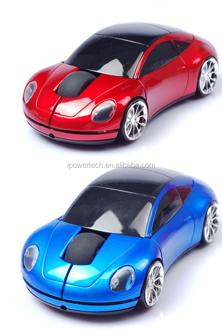 car shape custom led light 2.4ghz usb wireless car mouse