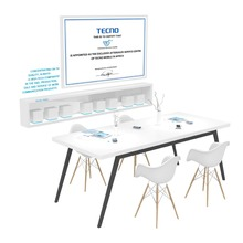 Mobile Phone and PC Retail Shop Wooden Display Counter Table