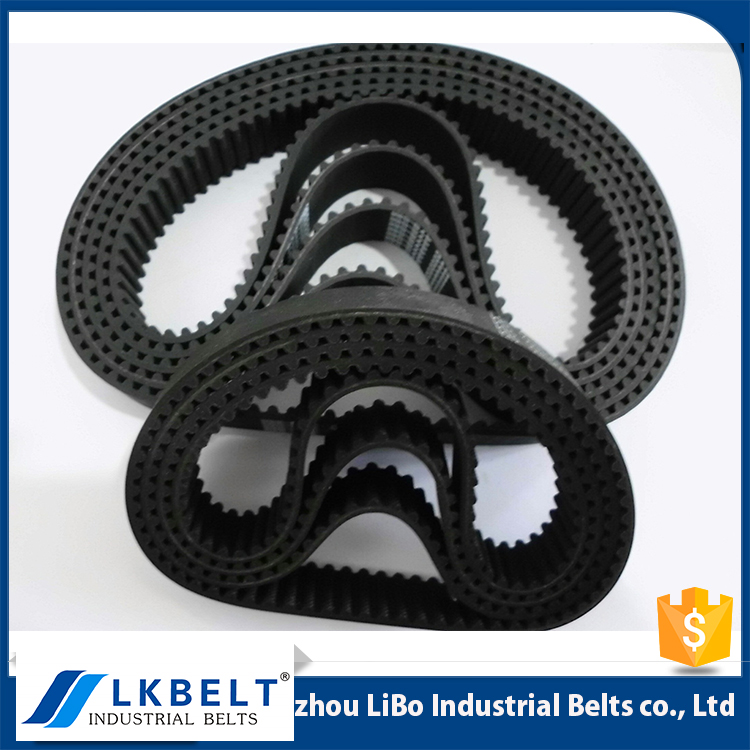 2017 factory price Nonstandard Rubber synchronous belt / black timing belt for all kinds of industry