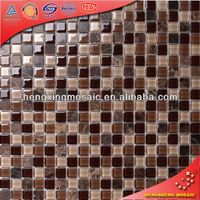Brown Crackle Ceramic Electroplated Glass Wave Mosaic Matte Subway Tile (KS89)