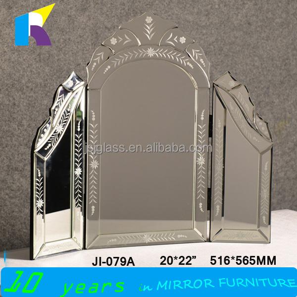 jingshijie 손으로 만든 현대적인 유리 드레싱 테이블 거울 침실 ...
