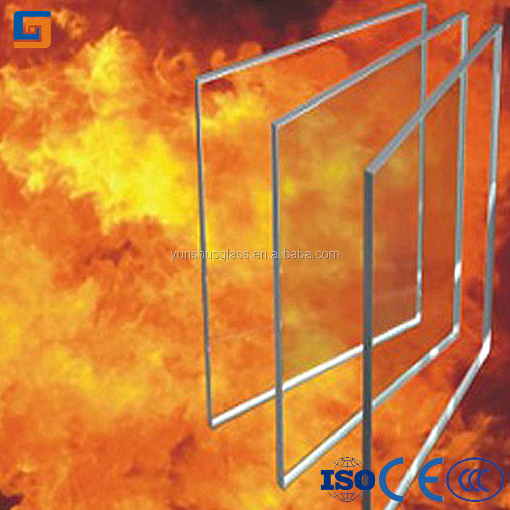 10mm Fire Rated Glass, fire resistant glass 2 hour / 3 hour Anti Fire Glass
