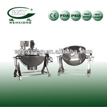stainless steel jacketed kettle(cooking pot,steam cook kettle,double layer pot.steam jacketed kettle)
