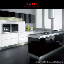 White and black complete kitchen cabinet sets