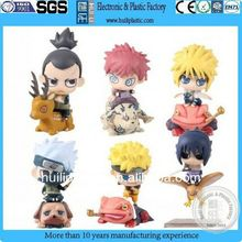 Plastic cartoon doll;Naruto plastic toy;plastic toy doll for children