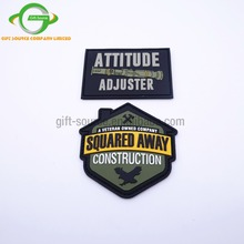 Custom 3D PVC Patch for Clothing, Embossed Logo Resin Epoxy Soft Rubber Patches with Back Adhesive Velcro