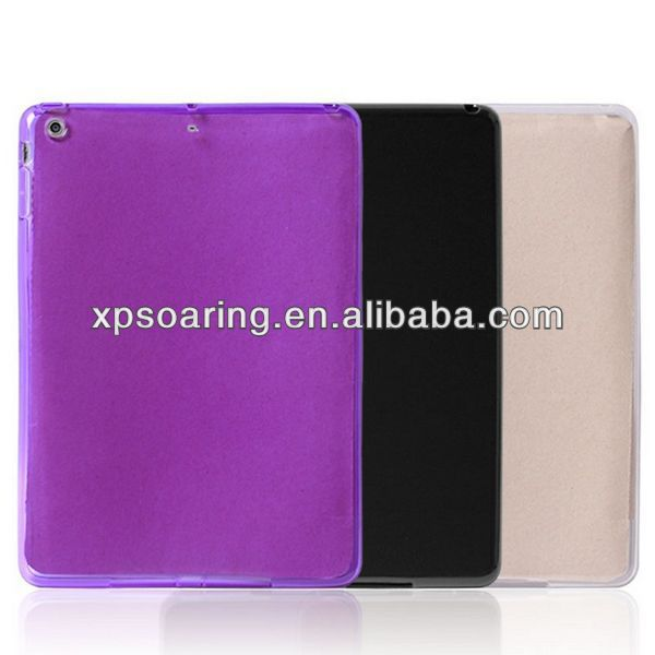 Solid TPU case back cover for ipad air ipad 5