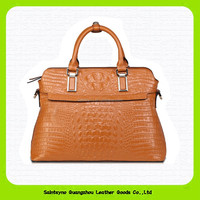 15222 2015 Trending new product wholesale price ladies brand bags genuine crocodile skin leather handbags made in China