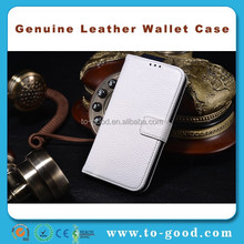 For Samsung i9190 Galaxy S4 Mini White Real Leather Wallet Case,Galaxy S4 Mini i9190 Case