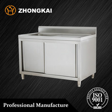 Outdoor Kitchen Stainless Steel Sink Work Table - 1 Sink, With Sliding Doors, 32 Kg, L 1500, W 700