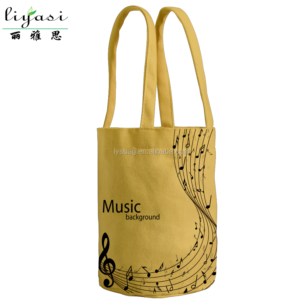 Custom LOGO Canvas Wine Handle Bottle tote Bag