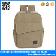 Online shopping blank canvas khaki retro laptop backpack for school
