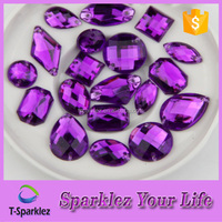 High Quality Purple Acrylic Rhinestone In Sew On Setting Wholesale China