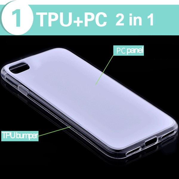Alibaba 2016 new protucts 2 in 1 TPU PC mobile phone back cover case for iPhone 7