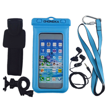 Pvc waterproof dustproof and shockproof mobile phone Case With Strap And Armband
