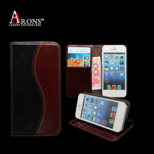 Two colors mobile phone leather case leather universal flip phone case