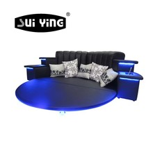 hot sale modern led music round bed frame in China CY006