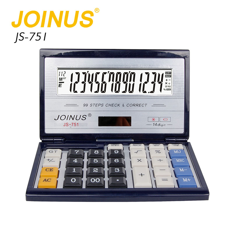 Factory Supply Custom Business Office Home 14 Digit Sloar Electronic Folding Calculator