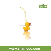 2014 New Gel Scented Popular Yellow Duck Air Deodorizer Hanging Car Air Freshener